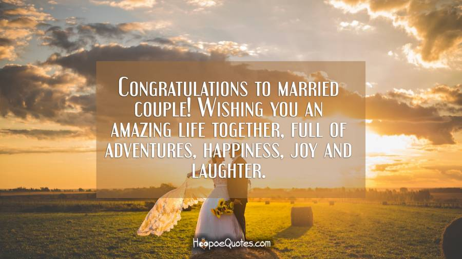 Congratulations To Married Couple Wishing You An Amazing Life