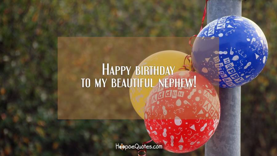 Happy birthday to my beautiful nephew! Birthday Quotes