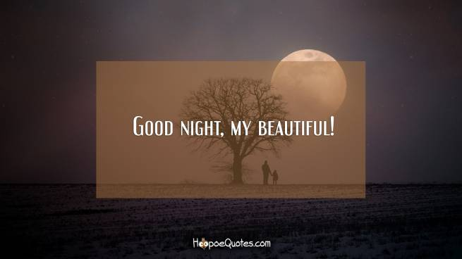 Good night, my beautiful!