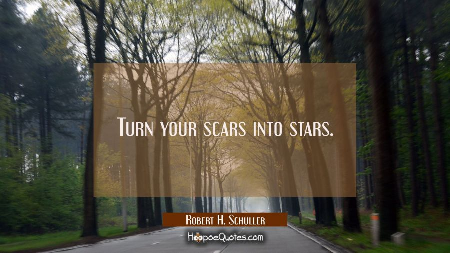 Turn your scars into stars. Robert H. Schuller Quotes