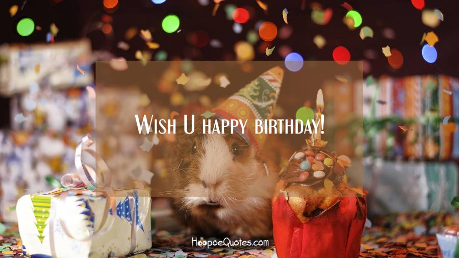 Wish U happy birthday! Birthday Quotes