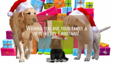 Wishing you and your family a very Merry Christmas! Quotes