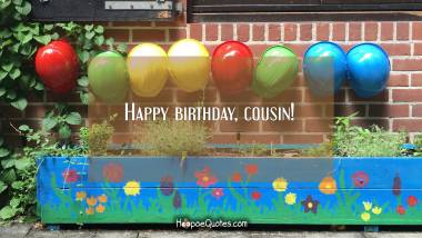 Happy birthday, cousin! Quotes
