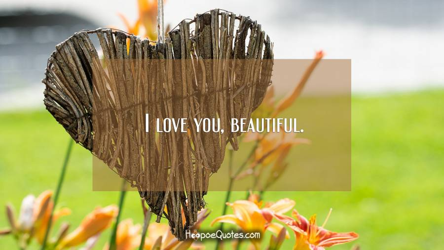 I love you, beautiful. I Love You Quotes