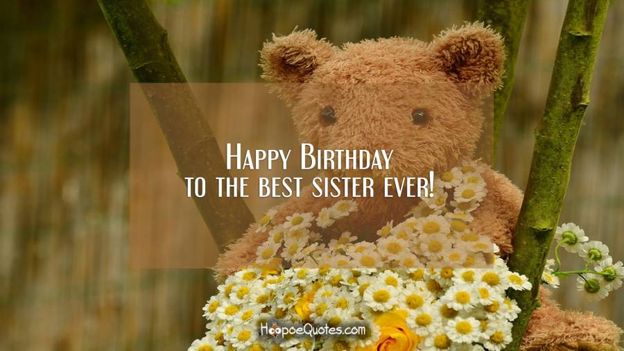 Happy Birthday to the best sister ever! Birthday Quotes