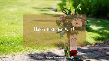 Happy birthday, wife! Quotes