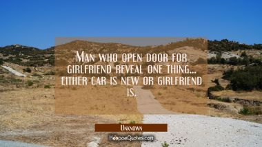 Man who open door for girlfriend reveal one thing...either car is new or girlfriend is