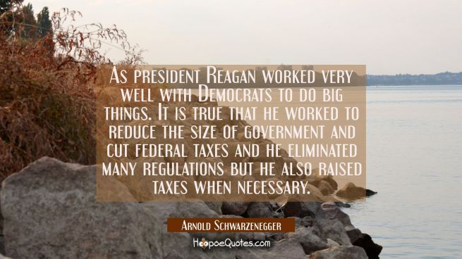 As president Reagan worked very well with Democrats to do big things. It is true that he worked to