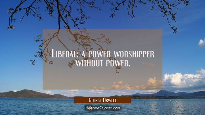 Liberal: a power worshipper without power.
