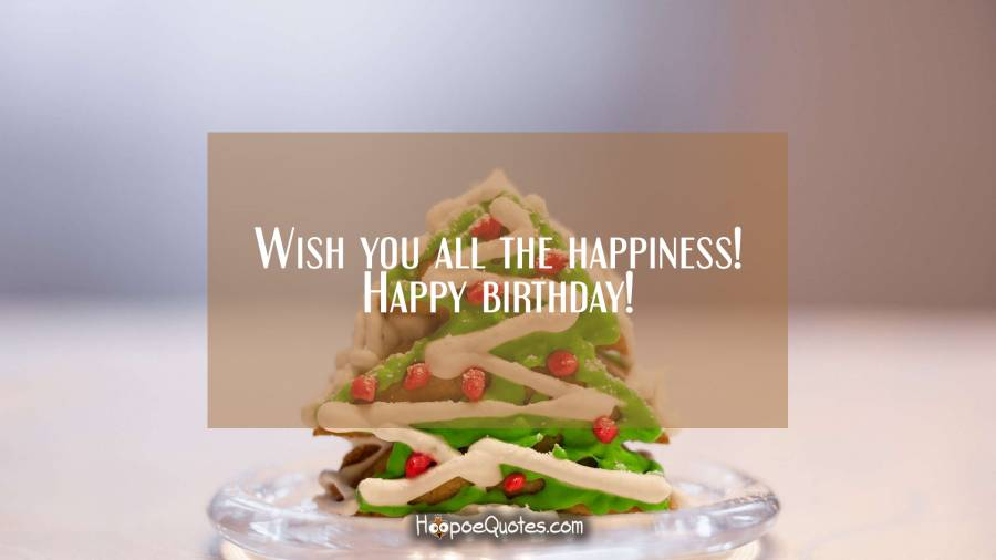 Wish you all the happiness! Happy birthday! Birthday Quotes