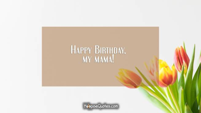 Happy Birthday, my mama!