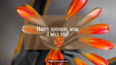 Happy birthday, mom. I miss you! Quotes