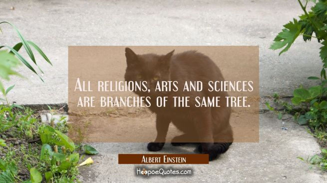 All religions arts and sciences are branches of the same tree.