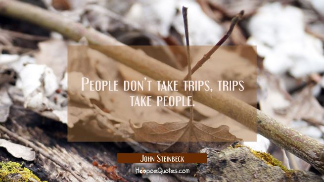 People don't take trips, trips take people.
