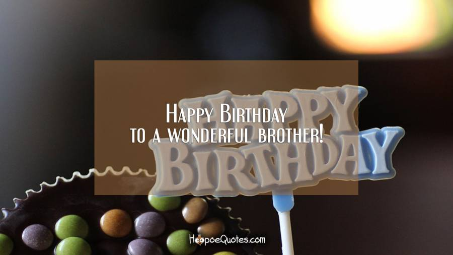 Happy Birthday to a wonderful brother! Birthday Quotes