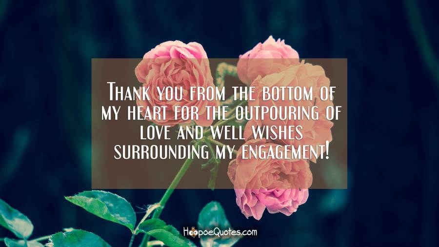 thank you from the bottom of my heart for the outpouring of love