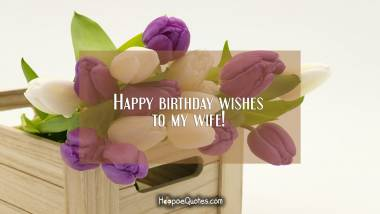 Happy birthday wishes to my wife! Birthday Quotes