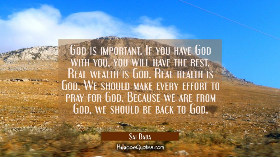 why is god important to you