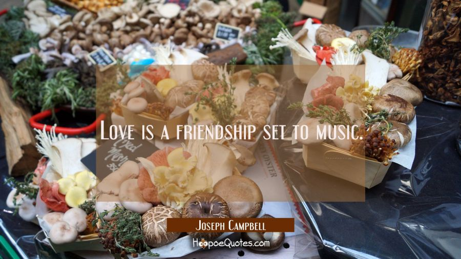Love is a friendship set to music. Joseph Campbell Quotes
