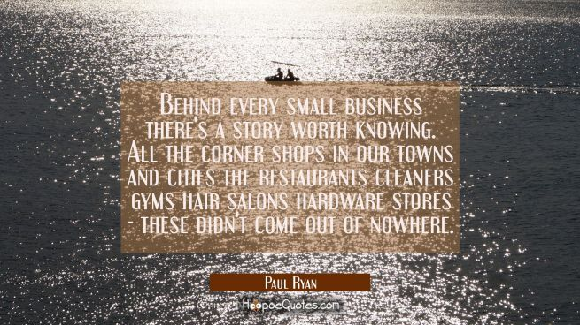 Behind every small business there's a story worth knowing. All the corner shops in our towns and ci