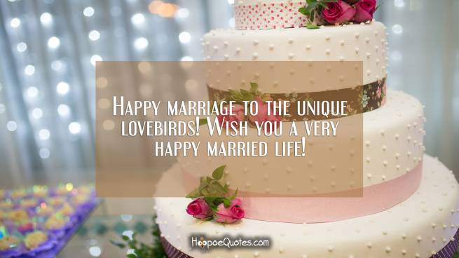 Happy marriage to the unique lovebirds! Wish you a very happy married life!