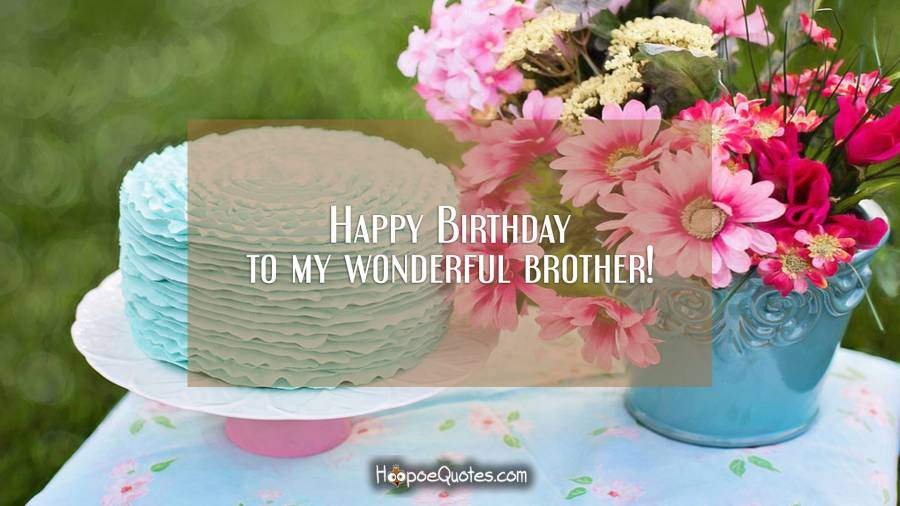 Happy Birthday to my wonderful brother! Birthday Quotes