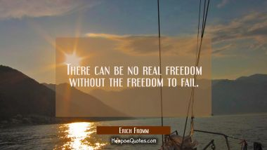 There can be no real freedom without the freedom to fail. Erich Fromm Quotes
