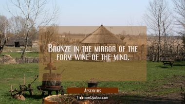 Bronze in the mirror of the form wine of the mind.