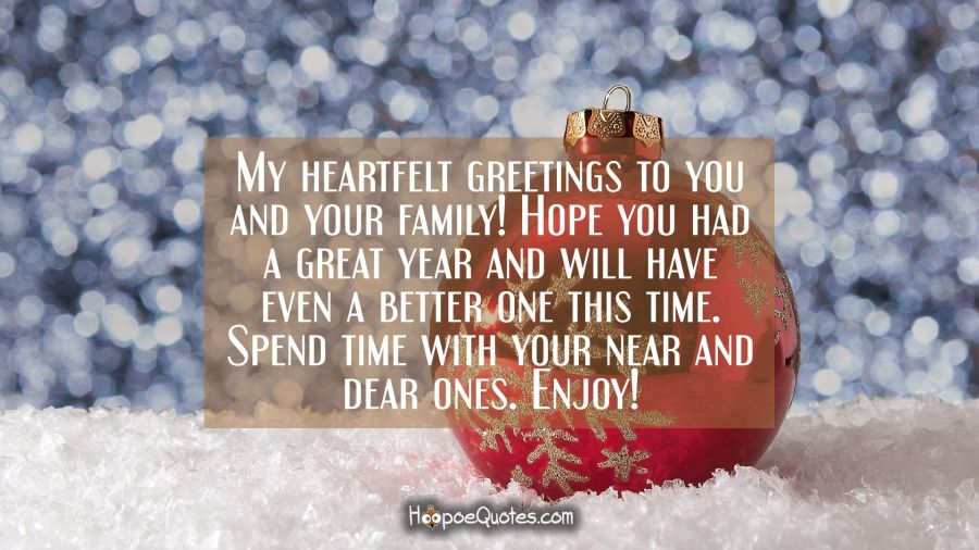 My heartfelt greetings to you and your family hope you had a great my heartfelt greetings to you and your family hope you had a great year and m4hsunfo