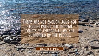 There are not enough jails not enough police not enough courts to enforce a law not supported by th