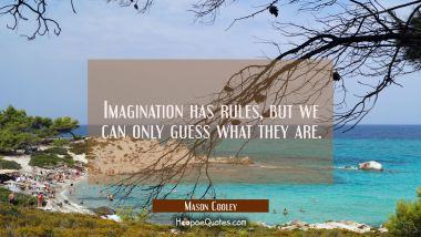 Imagination has rules but we can only guess what they are.