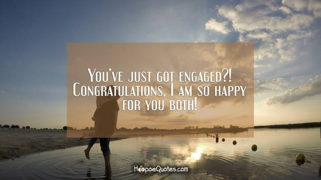 You've just got engaged?! Congratulations, I am so happy for you both!