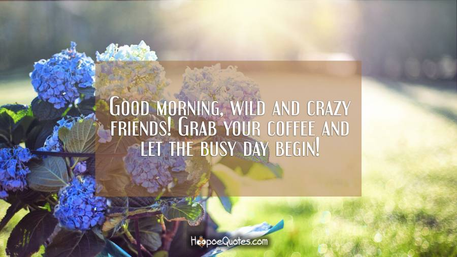 Good Morning Wild And Crazy Friends Grab Your Coffee And Let The