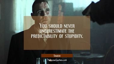 You should never underestimate the predictability of stupidity. Quotes