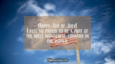 Happy 4th of July! I feel so proud to be a part of the most wonderful country in the world.