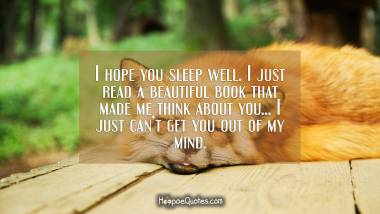 i hope you sleep well i just read a beautiful book that made me think about you i just cant get you out of my mind hoopoequotes