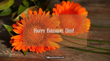 Happy Birthday, Didi! Quotes
