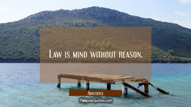 Law is mind without reason.