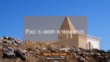 Peace is liberty in tranquillity.