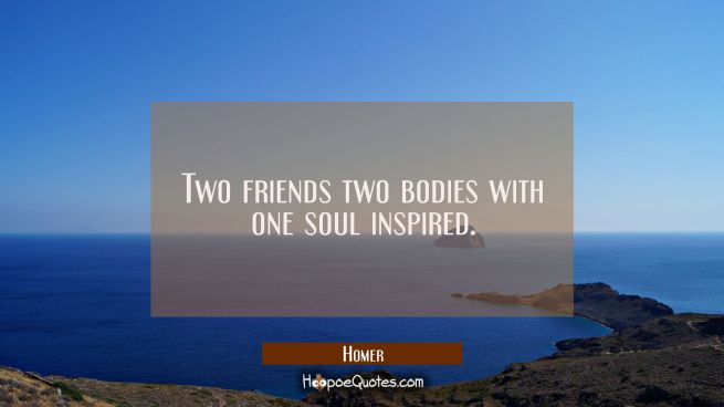 Two friends two bodies with one soul inspired.