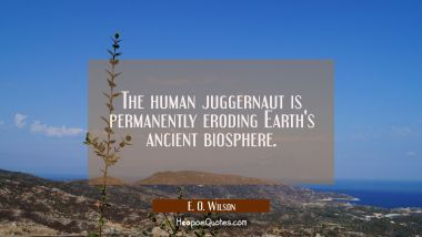The human juggernaut is permanently eroding Earth's ancient biosphere.