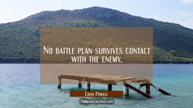 No battle plan survives contact with the enemy.