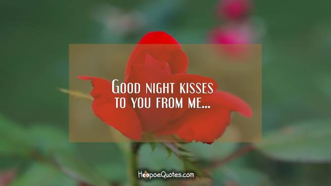 Good night kisses to you from me...