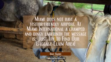 Miami does not have a visitor-friendly airport. At Miami International a cramped and dingy labyrint
