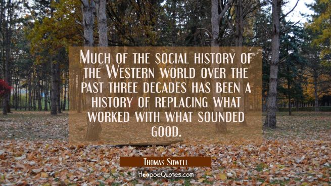 Much of the social history of the Western world over the past three decades has been a history of r