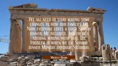 We all need to start making some changes to how our families eat. Now everyone loves a good Sunday