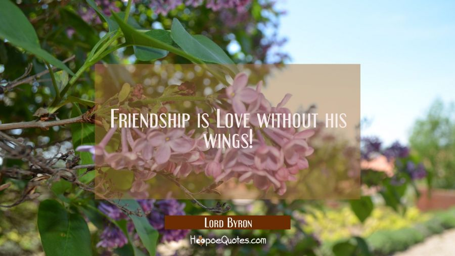 Friendship is Love without his wings! Lord Byron Quotes