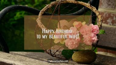 Happy birthday to my beautiful wife! Birthday Quotes
