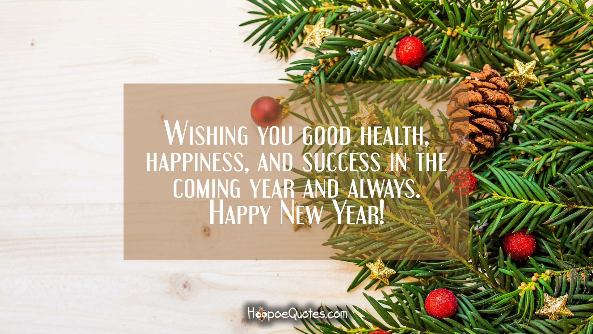 Wishing you good health, happiness, and success in the ...