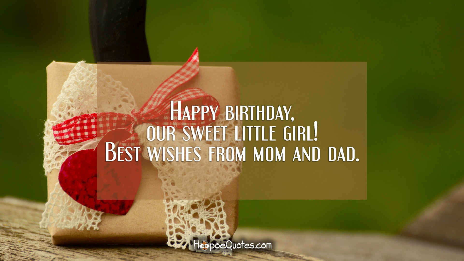 Sensational Happy Birthday Our Sweet Little Girl Best Wishes From Mom And Birthday Cards Printable Trancafe Filternl